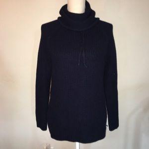 Athleta Navy Borealis Knitted Sweater Size Small